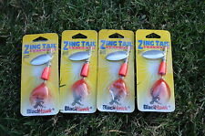 New Lot Zing Tail Blackhawk Spinner Fishing Lure Bait Red Scale 3/16 oz