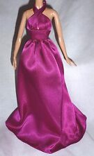"""DRESS ONLY ~ BARBIE DOLL """"THE LOOK"""" FULL LENGTH MAGENTA EVENING GOWN MODEL MUSE"""