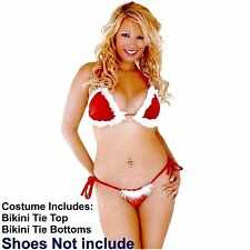 Night Before Christmas Sexy Bikini Top & Bottom Santa Suit, Fancy Dress,Bra Pant