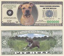10 Pit Bull Pitbull Dog K-9 Novelty Money Bills - New #249