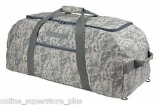 """31"""" Camouflage ACU Duffle Bag (Turns Into Backpack) Camping Travel Gym Gear Bag"""
