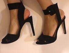 Zara noir épais bride cheville-à lanières et talon aiguille taille 5/38 style classique!!!