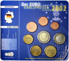 Karlspreis Satz Deutschland 3,88 Euro 2002 Euro Kursmünzen Mzz.F im Blister