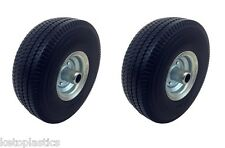 2 X OFF SET ZINCATO PU seduti su tagliaerba disco Puncture PROOF 4.10 / 3.50 - 4