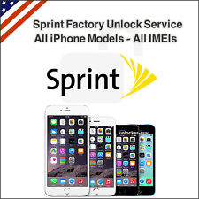 Sprint Factory Unlock Service iPhone SE 6s+ 6s 6+ 5s 5 4s Premium All IMEIs 100%