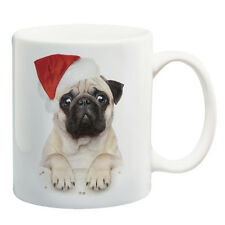 Christmas Pug dog ceramic coffee mug tea cup