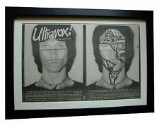 ULTRAVOX!+Debut+1st ALBUM+POSTER+AD+RARE ORIGINAL 1977+FRAMED+FAST GLOBAL SHIP