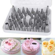 Pastry Fondant Cake Decorating Sugar Craft Piping 52 x Icing Nozzle Tips Set #A