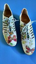 ~NEW STUART WEITZMAN Suede Butterfly Sneakers Shoes Mr. Seymour, Sz 9N, RARE ~