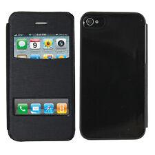 Accessoire Housse Etui Coque Plastique View Case NOIR pour Apple iPhone 4/4S