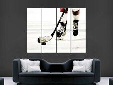 Hockey su Ghiaccio Pattinaggio Puck Grande Stampa Poster Gigante