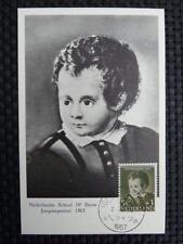 NIEDERLANDE MK 1956 MALEREI PAINTING MAXIMUMKARTE MAXIMUM CARD MC CM a9311