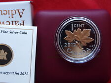 2012 Canada 1 Cent Fine Silver Proof Pink Gold Plated Coin-Farewell To The Penny