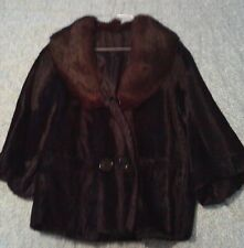 vintage cropped jacket with fox fur collar