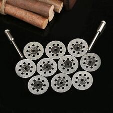 22mm Diamond Cutting with 8 Hole Wheel Rotary Blade Disc + 2 Mandrel Shank Arbor