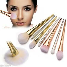 Pro Makeup Brush Set Brushes Make Up Blush Kit Real Bold Metal Collection 7Pcs