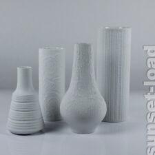 Bisquit Porzellan Op Art Vasen 4er Konvolut 3 x Hutschenreuther 1x Kaiser 70er J