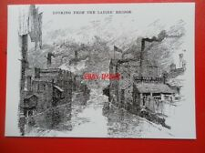 POSTCARD YORKSHIRE SHEFFIELD - VIEW FROM LADY'S BRIDGE WAINGATE - PENCIL SKETCH