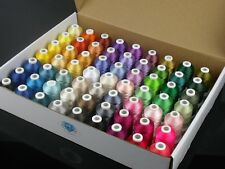 Simthread 63 Brother Colors Polyester 120d/2 40 Weight Embroidery Machine Thread