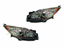 2010-2013 Mazda 3 Head Lights Lamps Driver & Passenger Side LH+RH 5-speed Trans