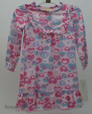 Sweet Heart Rose Pink Heart Nightgown PJ's Matching Doll 18 inch Size 5 NWT