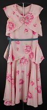 VTG 20s Pink Peony Floral Rayon Dress #1186 1920s