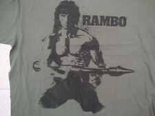 Rambo The Movie Sylvester Stallone Fan Apparel Green Cotton T Shirt Size XL