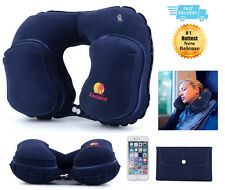Car Flight Travel Pillow Inflatable Neck & Head Rest U-Shaped Seat Cushion