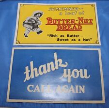 Vintage Butter-Nut Bread 2 Sided Window Decal Advertising-Unused