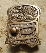 Geschenknet Antik Messing Klingel 1 Jugendstil Klingelschild Klingelplatte  K16A
