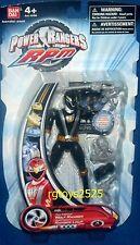 """Power Rangers RPM Full Throttle Black Wolf Ranger New 5 """" Factory Sealed 2009"""