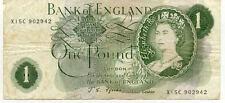 Billet banque GREAT BRITAIN ANGLETERRE ENGLAND 1 £ ANCIEN état voir scan 942