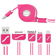 Retractable Phone Connector Line 4 In 1 Charger Cable Charging Cord Multiple