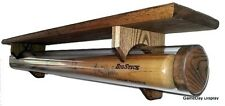 Solid Wood Baseball Bat Display with Acrylic Tube and Shelf by GameDay Display