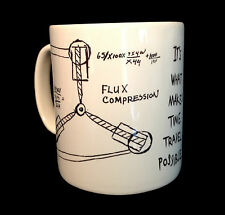 NEW FLUX CAPACITOR DRAWING DOC EMMETT BROWN BTTF BACK TO THE FUTURE MUG CUP GIFT