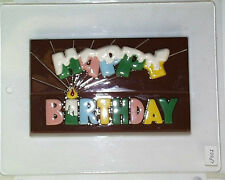 HAPPY BIRTHDAY BAR (LARGE) CHOCOLATE CLEAR PLASTIC CANDY MOLD LP002