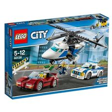 """LEGO 60138 """"High Speed Chase"""" Building Toy police car helicopter"""