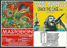MASTODON & GOGOL BORDELLO LOT OF 2 U.K. TOUR POSTCARDS