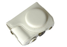 white Leather camera Case Bag cover for Casio Exilim EX-ZR1000 Compact Camera