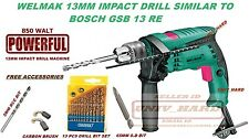WELMAK 850W POWERFUL 13MM IMPACT DRILL MACHINE SIMILAR TO BOSCG GSB 13 RE