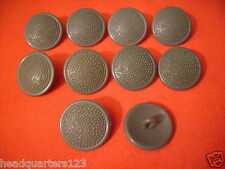10 x NVA MDI Bottoni Uniform Bottoni FDA MIM Tarn (grigio, plastica) 20mm (#4)