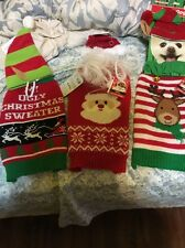 Simply Dog Brand Lot Of 3 Christmas Sweaters And Hats Size Small