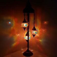 Top Quality Turkish Moroccan Tiffany Style Glass Mosaic Floor Lamp Night Light