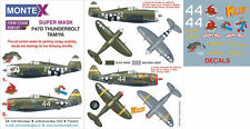 Montex 1/48 masks, decals & markings P-47D Thunderbolt for Tamiya kit K48197