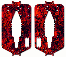 Traxxas T-maxx 3.3 Extended Nitro Chassis Plate Protector Kit Red Flames