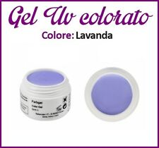 GEL UV NAIL ART COLORATI  RICOSTRUZIONE UNGHIE NAILS TIPS TIP 5ML LAVANDA