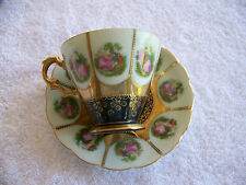 SAJI Fine China Tea Cup and Saucer Made in Japan  #5381-A