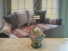 New Pfaltzgraff Birdhouse Mini Globe Ornament