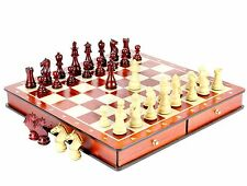 """Bud Rose wood Galaxy Staunton Wooden Chess Set Pieces Size 3"""" with Board / Box"""