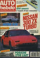 AUTO HEBDO n°594 du 7 Octobre 1987 NISSAN 300ZX TURBO PORSCHE 2708 CART
